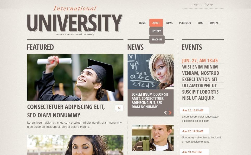 University Drupal Template New Screenshots BIG