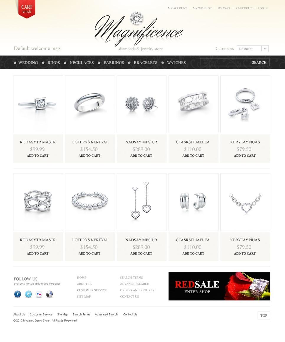 Jewels & Diamonds Magento Theme New Screenshots BIG