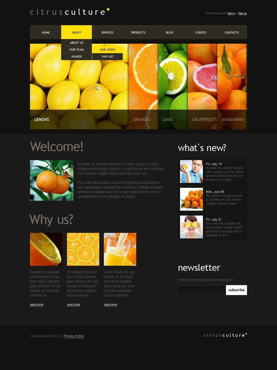 Food Store Joomla Template New Screenshots BIG