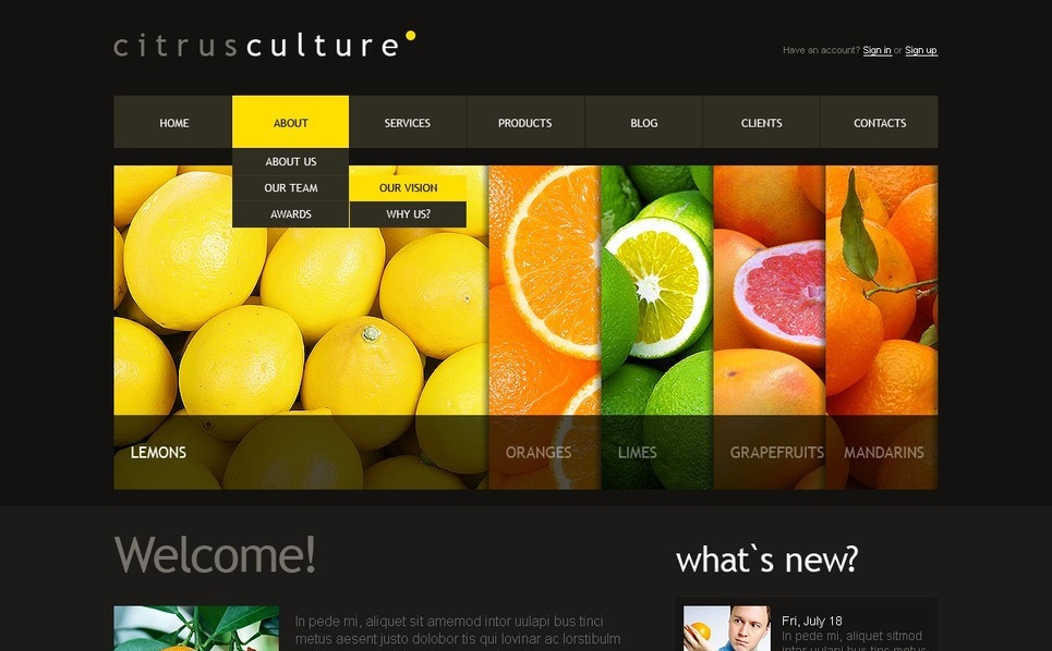 Food Store Joomla Template New Screenshots BIG