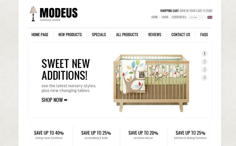Cozy Furniture ZenCart Template New Screenshots BIG