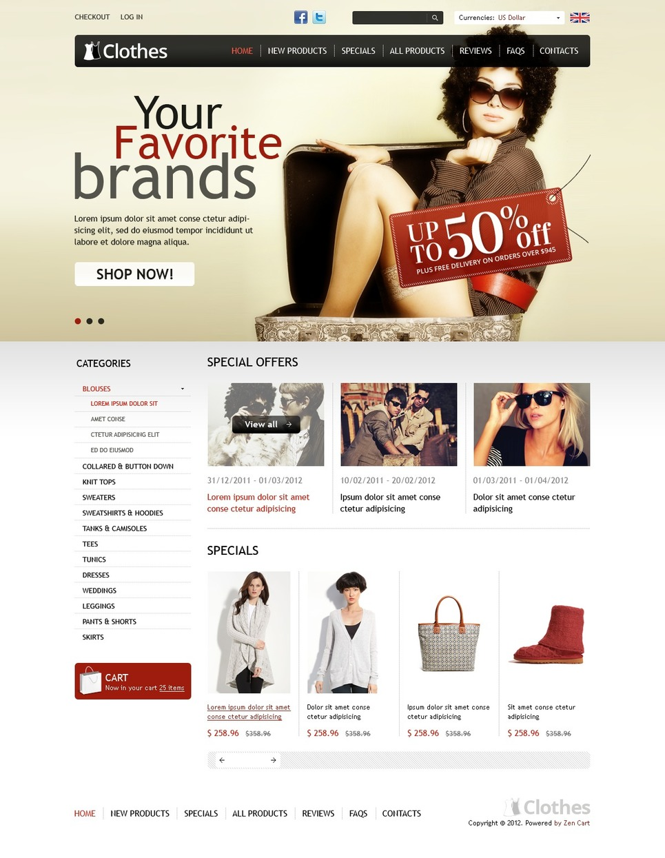 Trendy Clothes ZenCart Template New Screenshots BIG