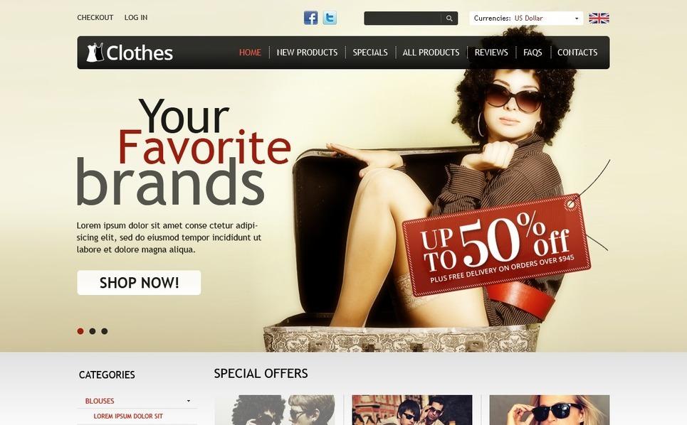 Trendy Clothes ZenCart Template New Screenshots BIG