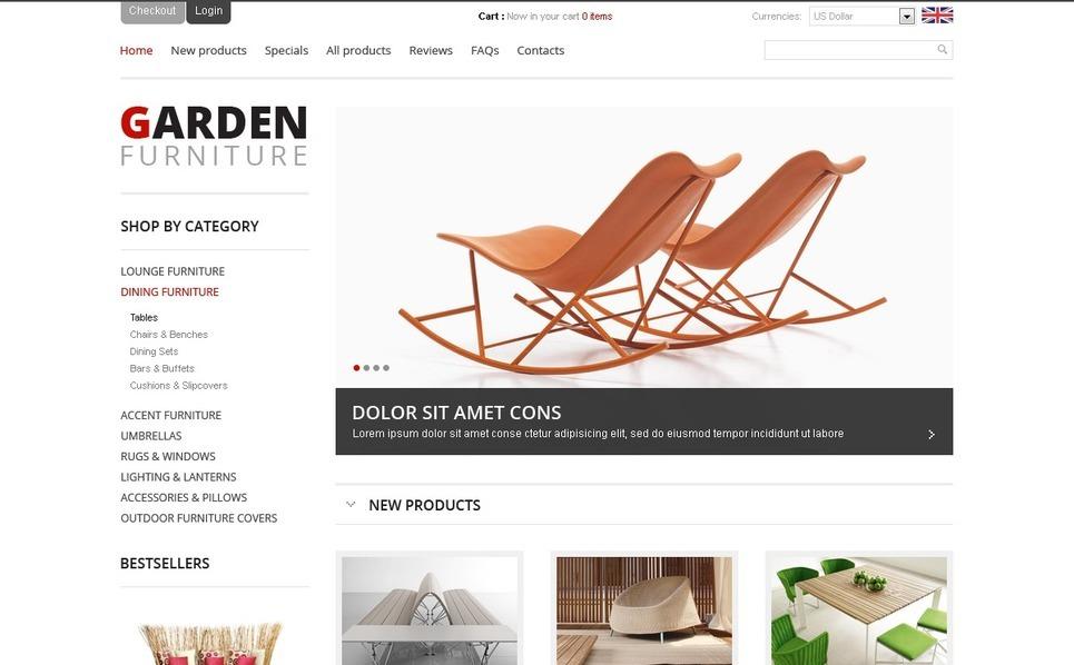 Garden Furniture ZenCart Template New Screenshots BIG
