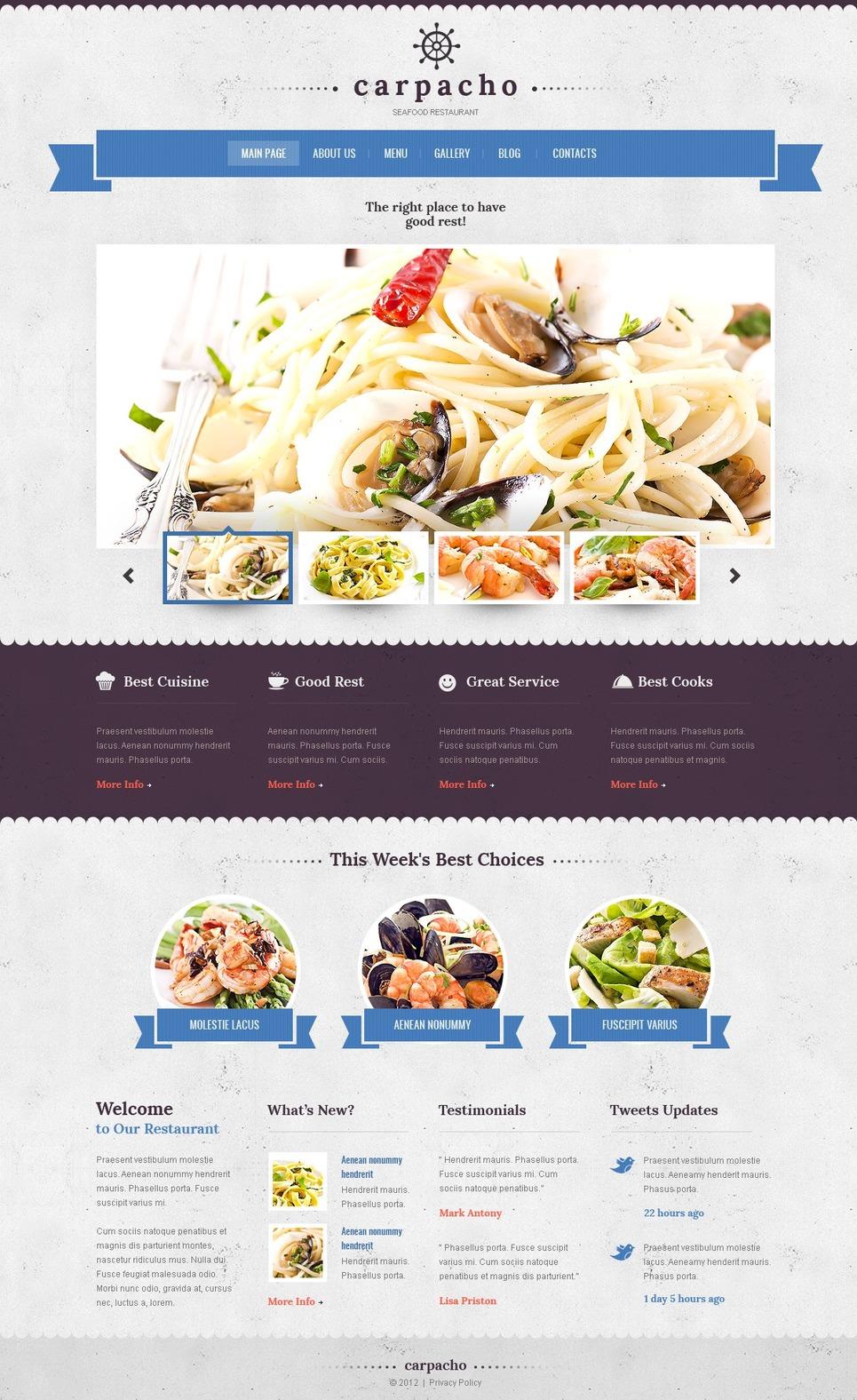 seafood restaurant wordpress theme  38777