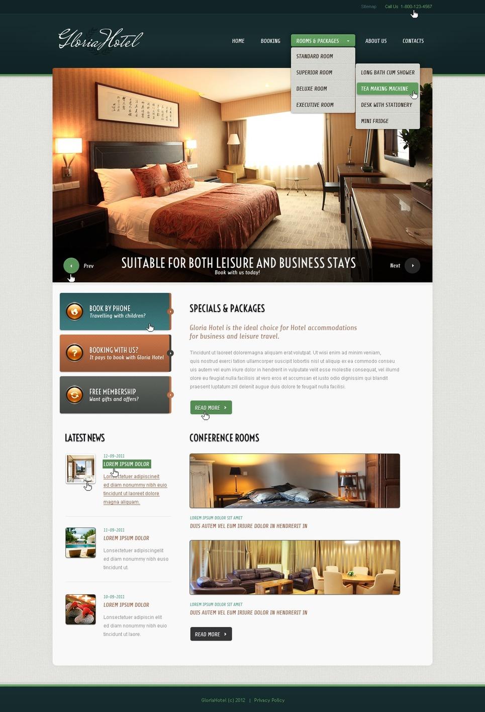 Hotels Responsive Website Template New Screenshots BIG