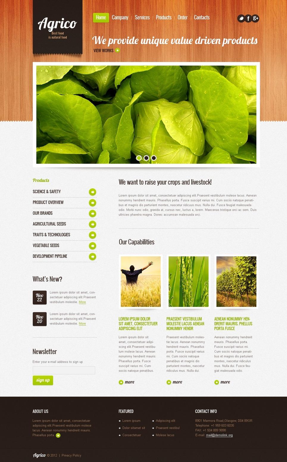 Agriculture Responsive Website Template New Screenshots BIG
