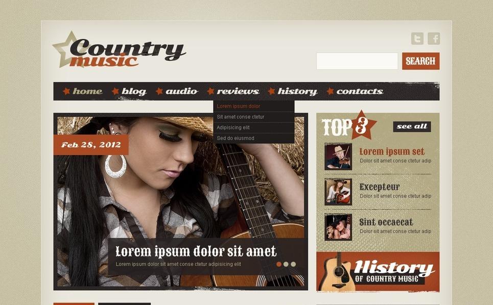 Music Website Template New Screenshots BIG