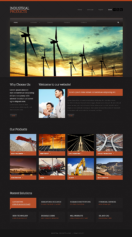 Website Template #38803