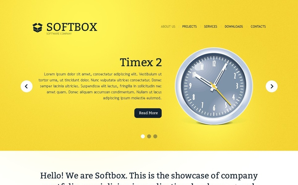 Software Website Template New Screenshots BIG