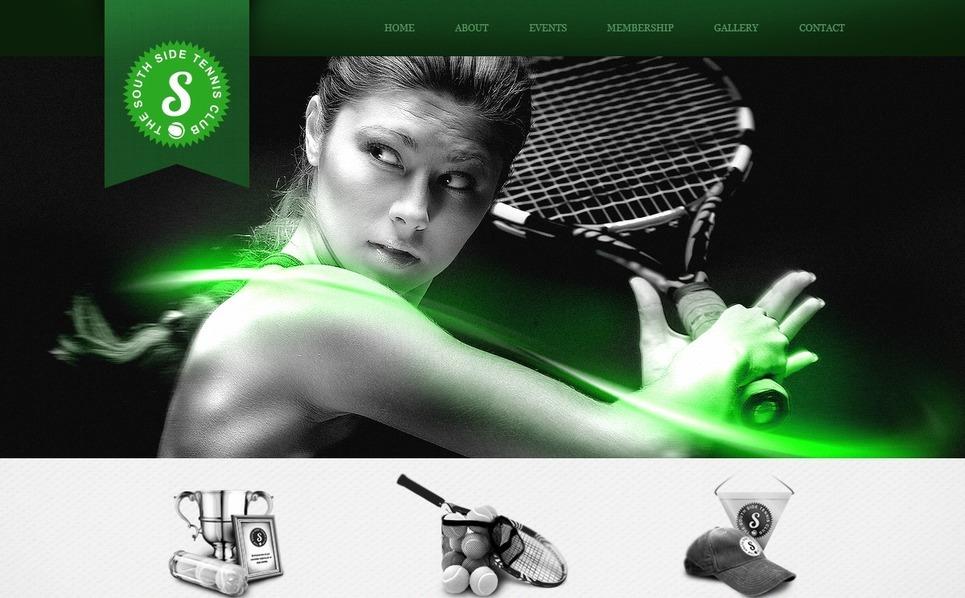 Tennis Website Template New Screenshots BIG