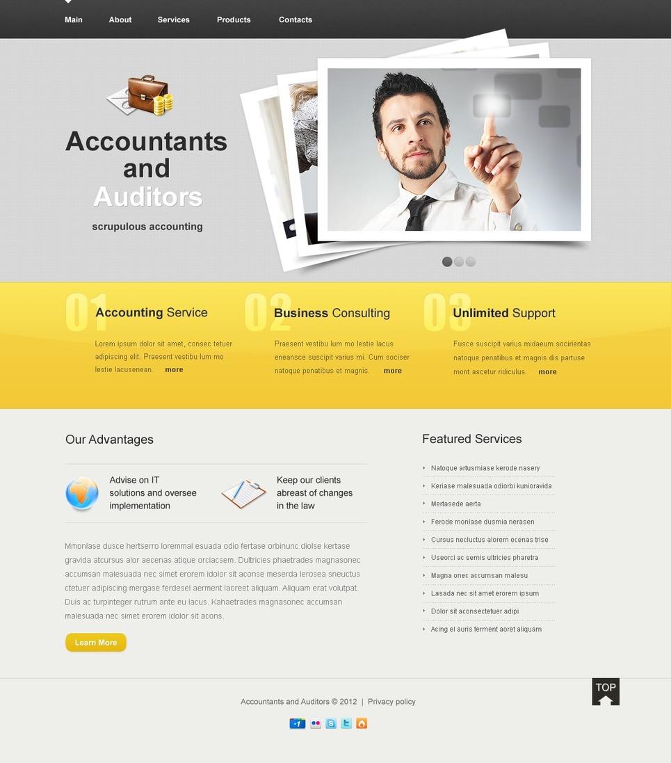 Accounting Website Website Template New Screenshots BIG