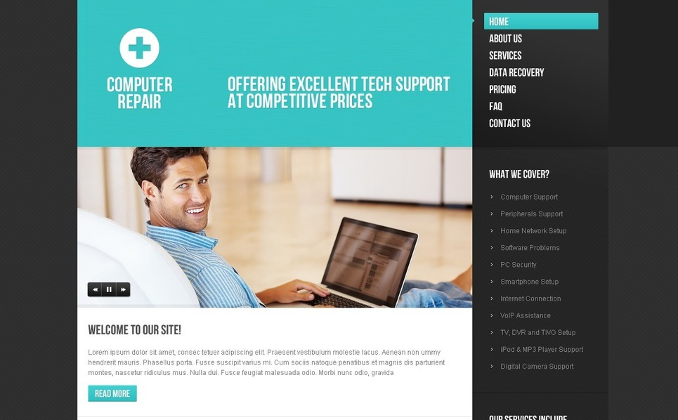 Computer Repair Website Template New Screenshots BIG