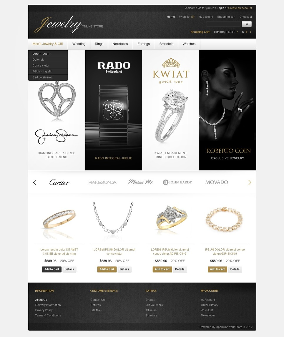 Jewelry Store For Men And Women OpenCart Template New Screenshots BIG