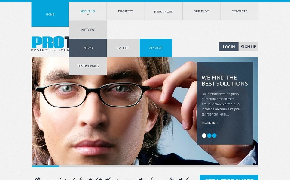 Law Firm Drupal Template New Screenshots BIG