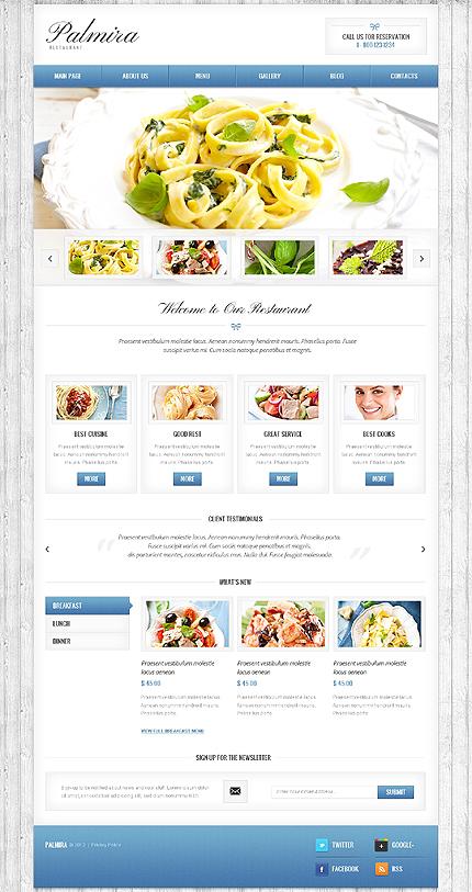Palmira Restaurant WordPress Theme