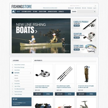 Fishing Magento Theme