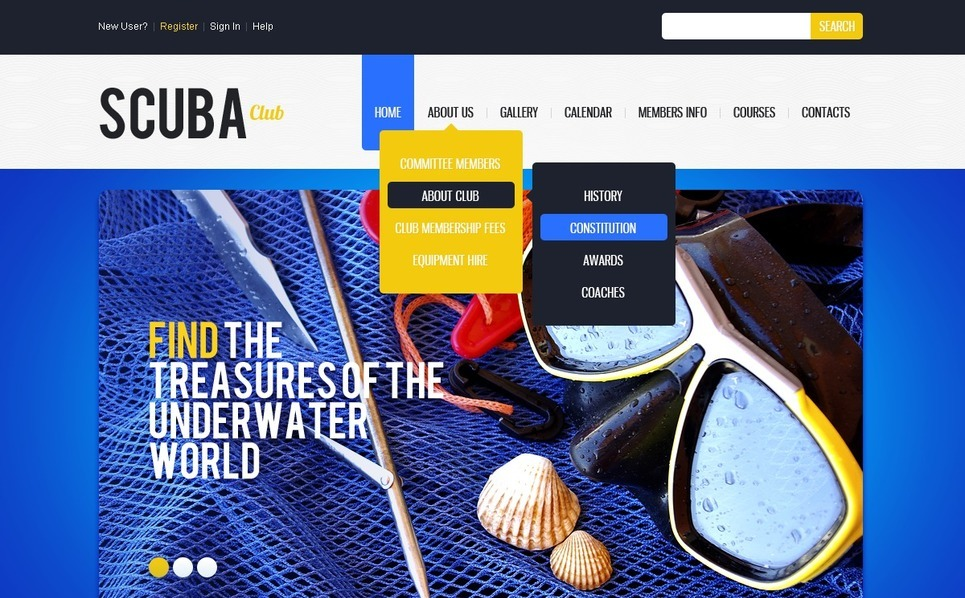 Diving Website Template New Screenshots BIG