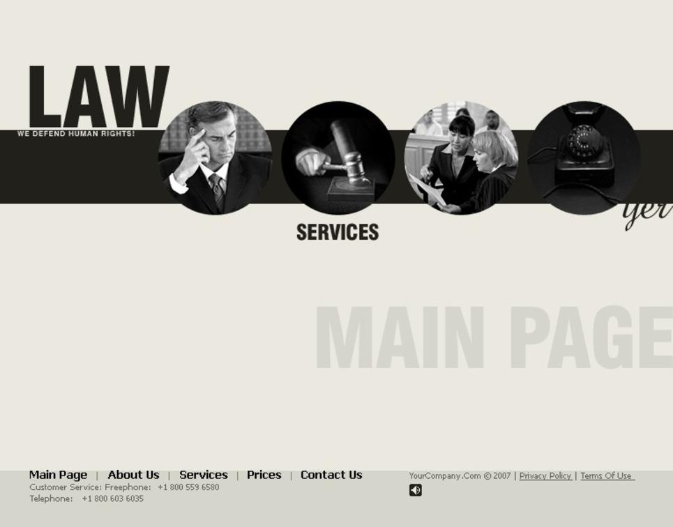 Law Flash CMS Template New Screenshots BIG