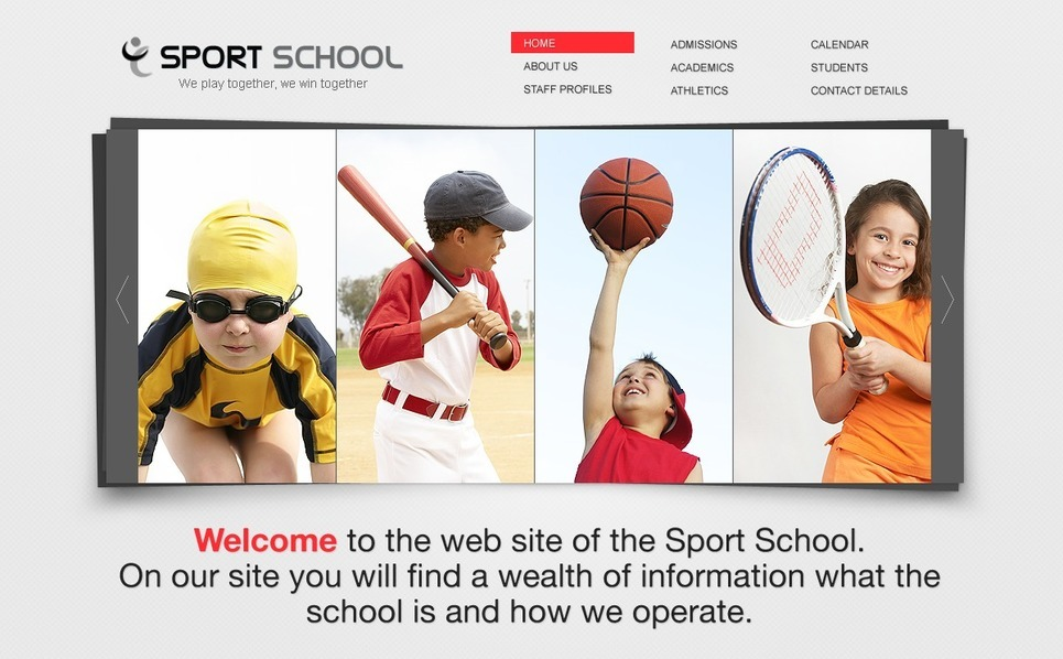 Sport Flash CMS Template New Screenshots BIG