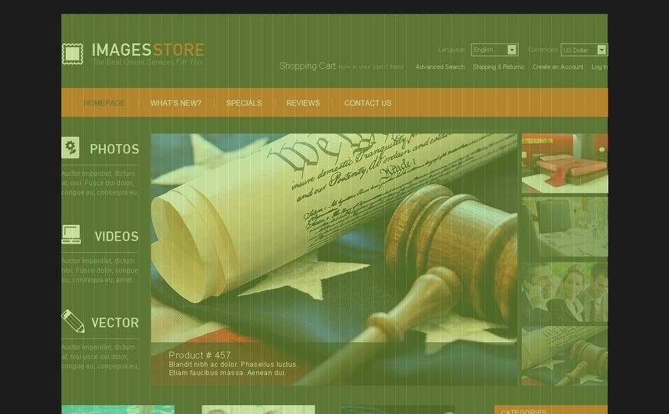 Images on Various Topics OsCommerce Template New Screenshots BIG