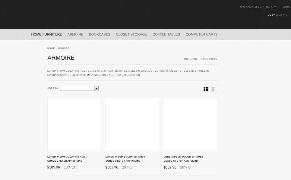 Furniture for Any Premises PrestaShop Theme New Screenshots BIG