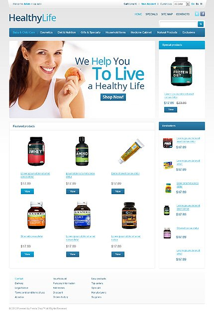Healthy life - Absolute Healthy Life PrestaShop Theme