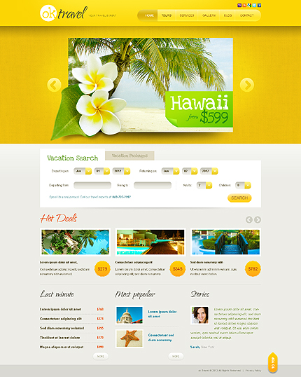 Website Template #38907