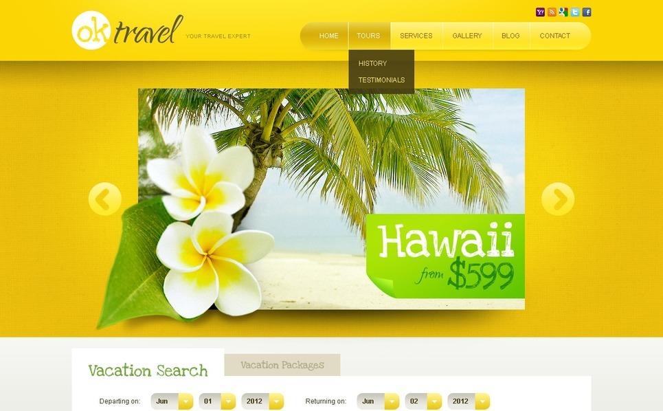 Travel Website Template New Screenshots BIG