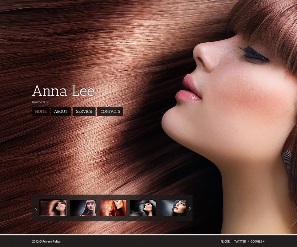 Hair Salon Website Template 38913