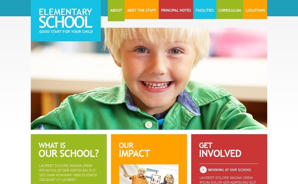 Primary School Facebook Flash CMS Template New Screenshots BIG
