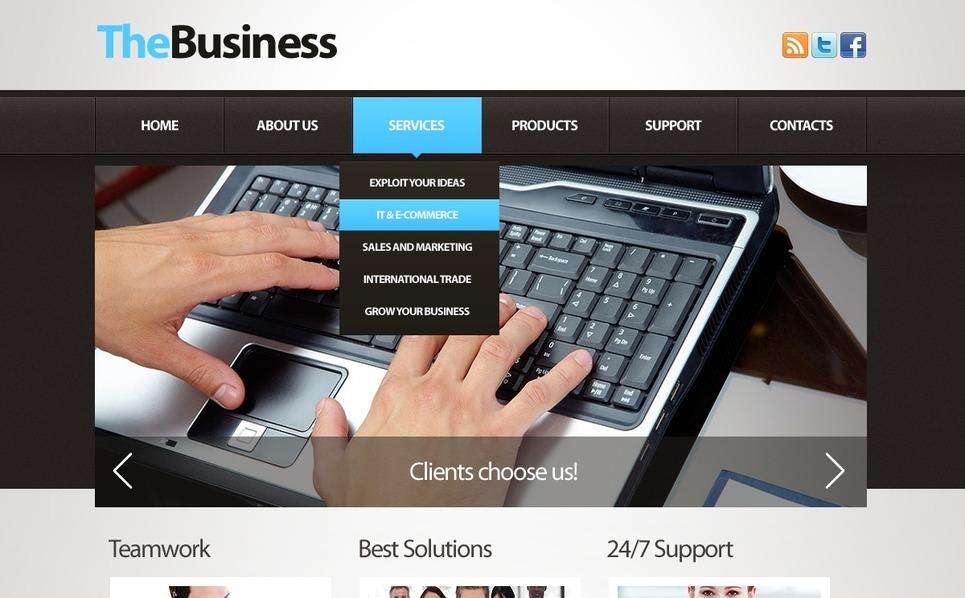 Business Facebook Flash CMS Template New Screenshots BIG