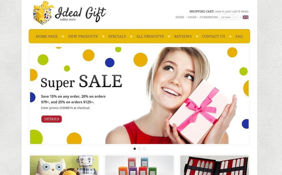 Ideal Gifts ZenCart Template New Screenshots BIG