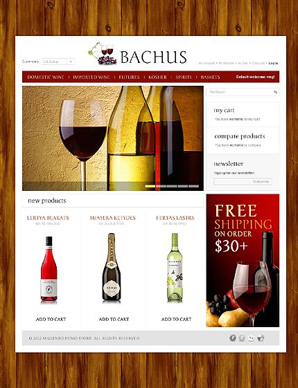 Bachus - Astonishing Magento Wine Shop Theme