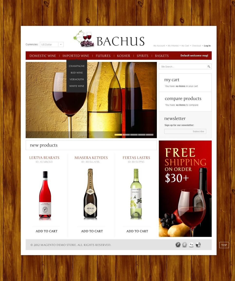 Wine Online Magento Theme New Screenshots BIG