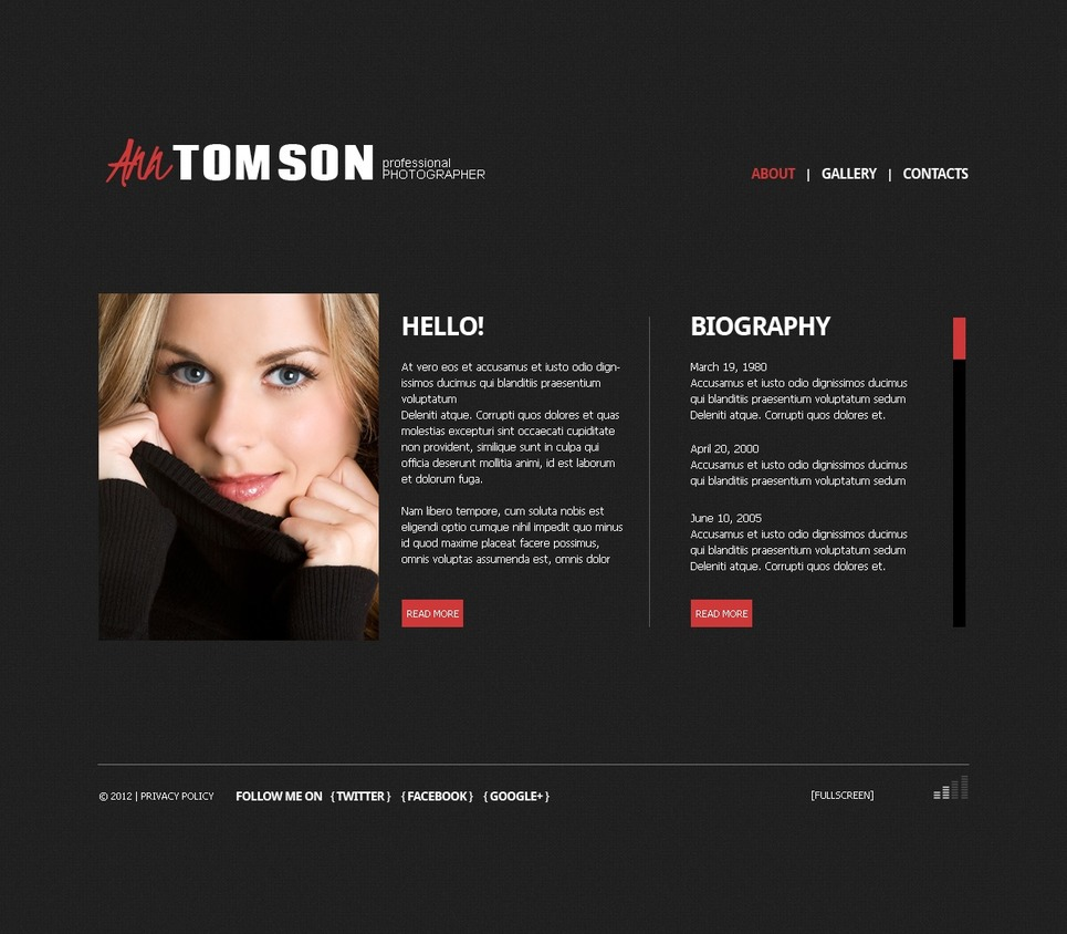Photographer Portfolio Photo Gallery Template New Screenshots BIG