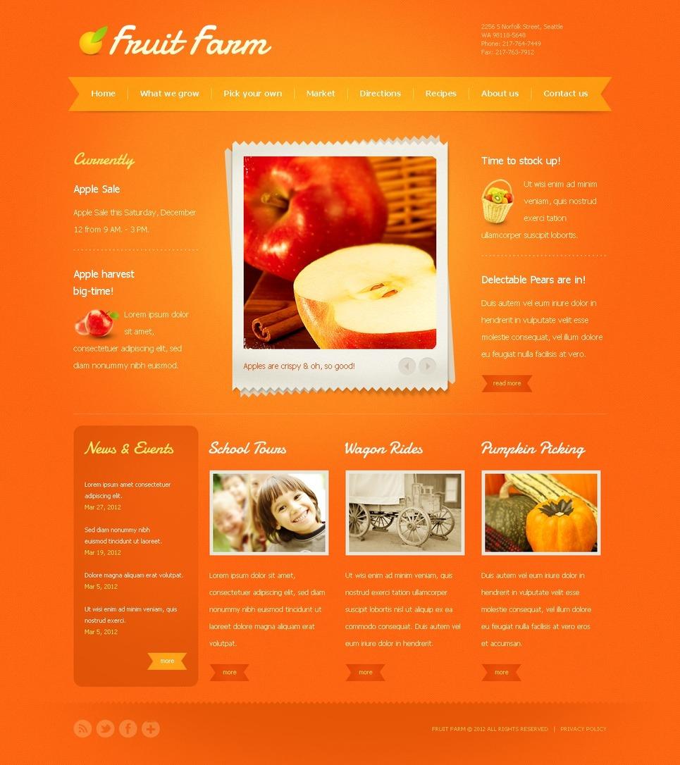 Fruit Website Template New Screenshots BIG