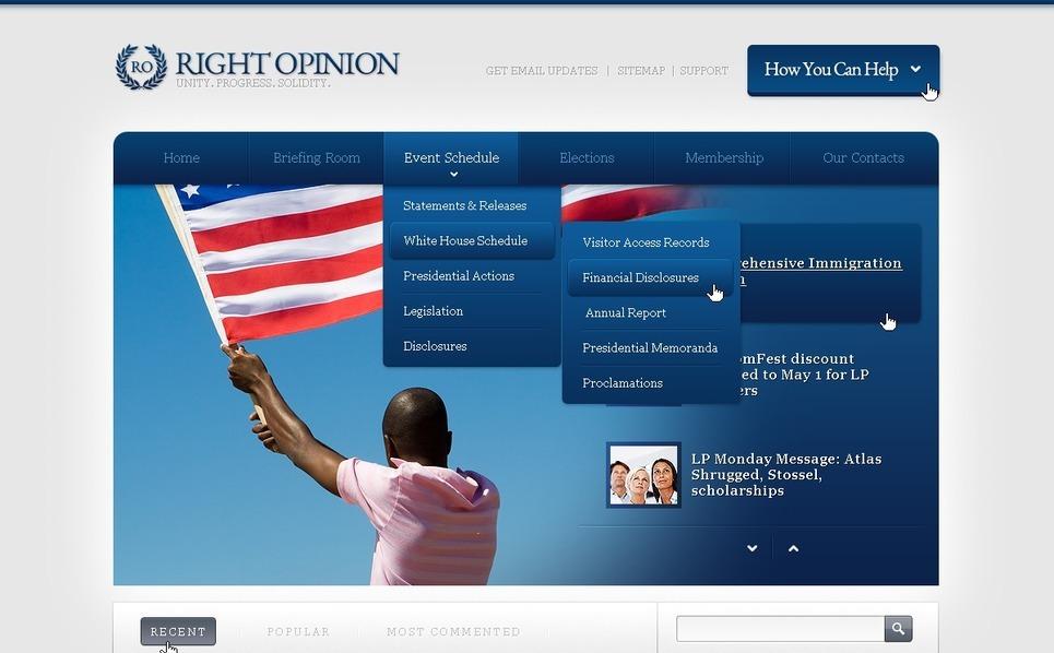Political News Website Template New Screenshots BIG