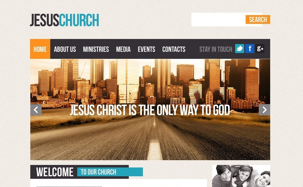 Religious Website Template New Screenshots BIG