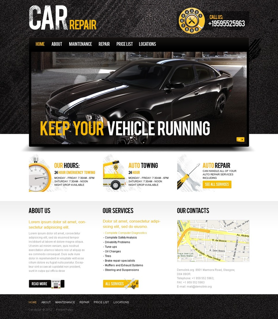 Car Repair Website Template New Screenshots BIG