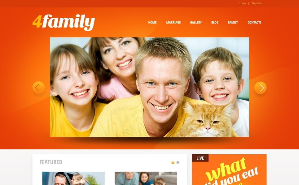 Family Center Drupal Template New Screenshots BIG