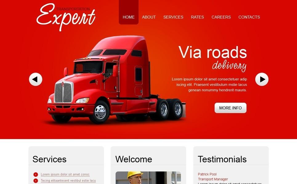Transportation Flash CMS Template New Screenshots BIG