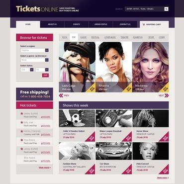 Tickets Website Flash CMS Template
