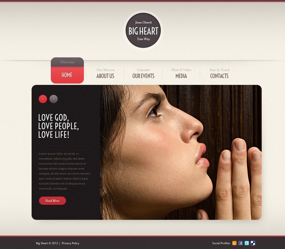 Religious Flash CMS Template New Screenshots BIG
