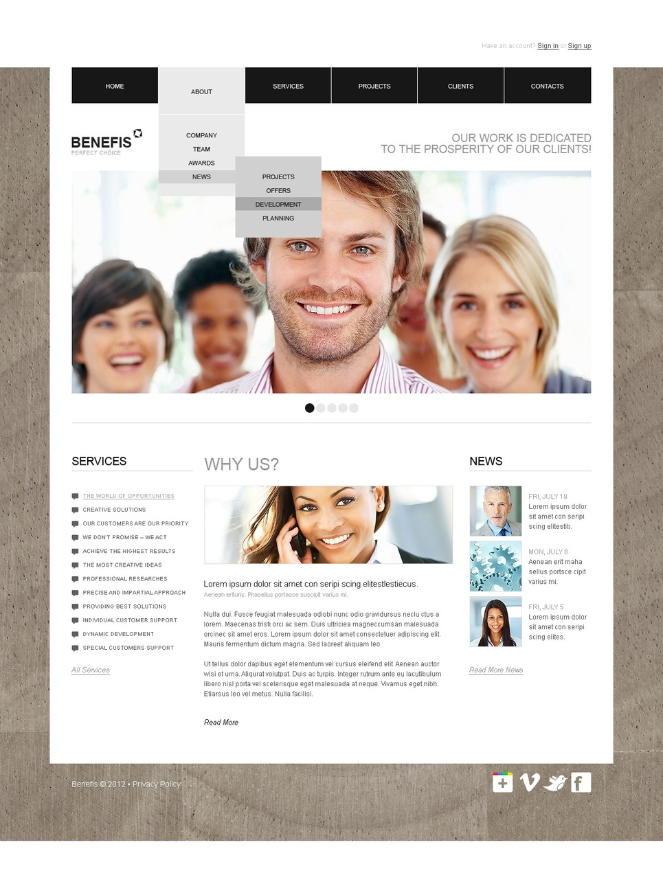 Business Flash CMS Template New Screenshots BIG