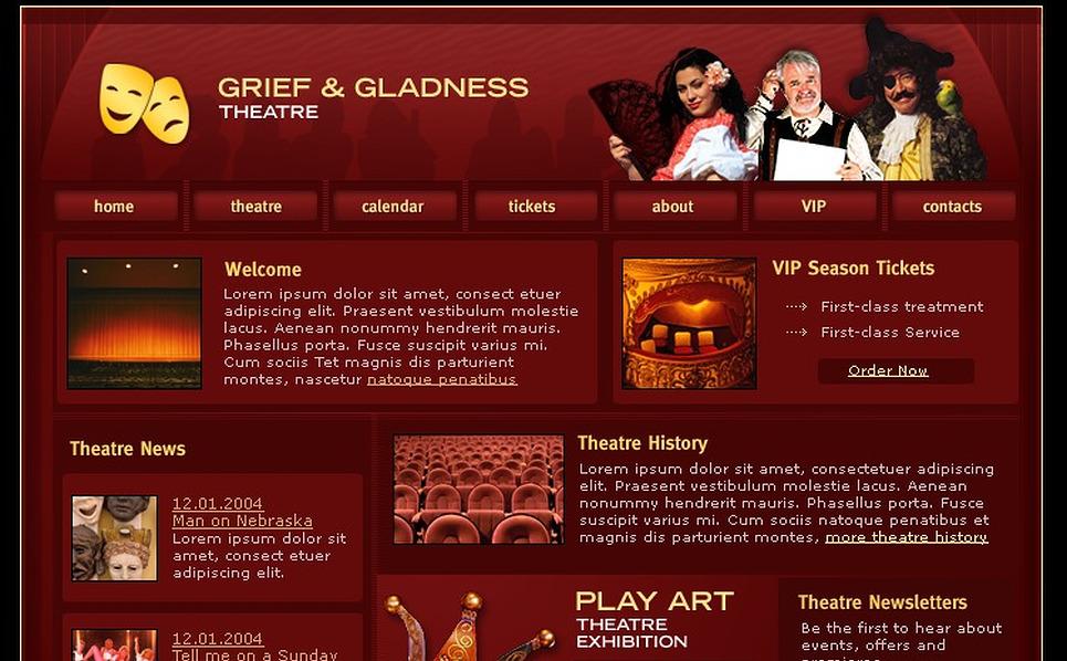 Theater Website Template New Screenshots BIG