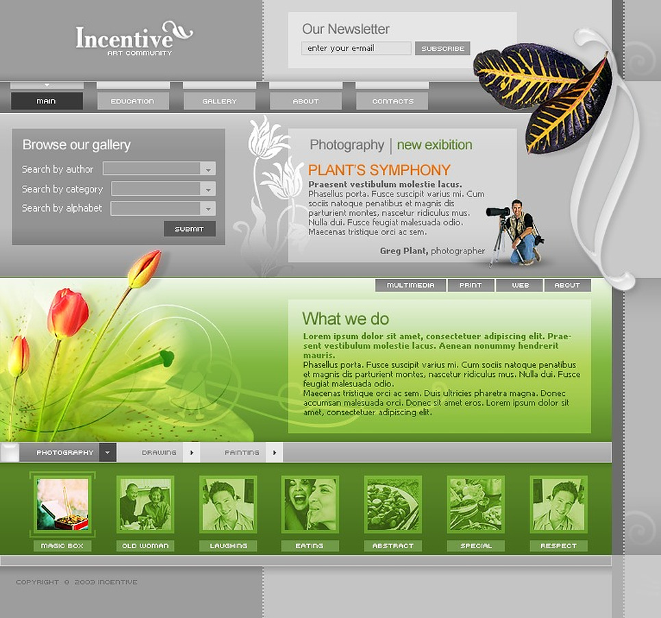 Art Web Website Template New Screenshots BIG