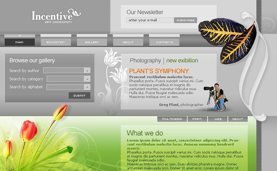 Art Web Website Template New Screenshots BIG