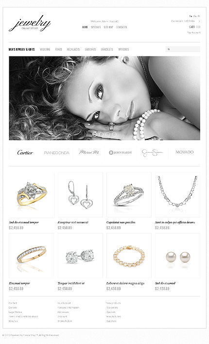 Jewelry store - Gorgeous Jewellery Store PrestaShop Theme