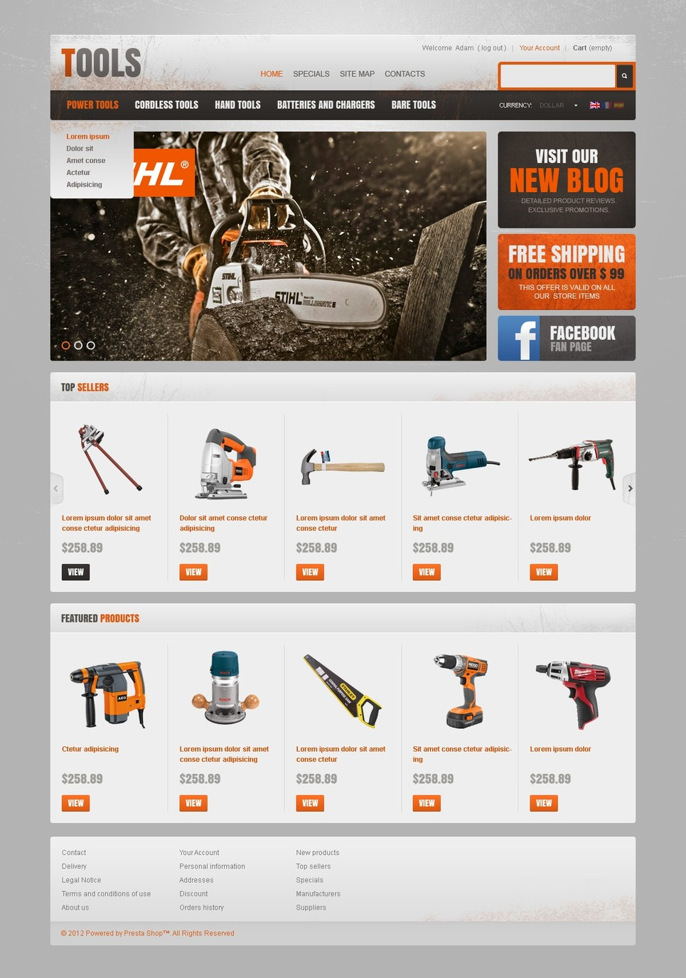 Tools & Accessories PrestaShop Theme New Screenshots BIG